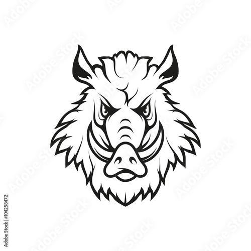 Fototapety, obrazy: Boar logo