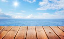 Sea And Wooden Platform