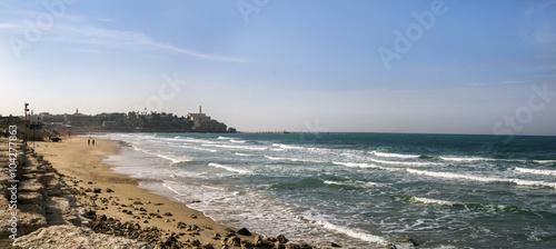 Poster Moyen-Orient Tel Aviv beach at morning