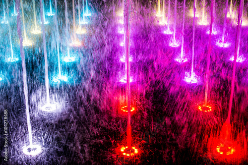 Photo sur Toile Fontaine colorful fountains