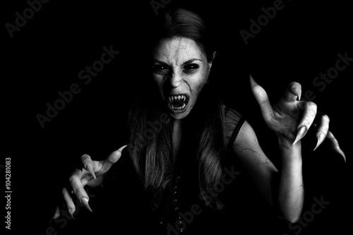 devil vampire woman Fototapet