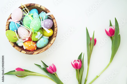 Photo  Easter set with wooden bird 3