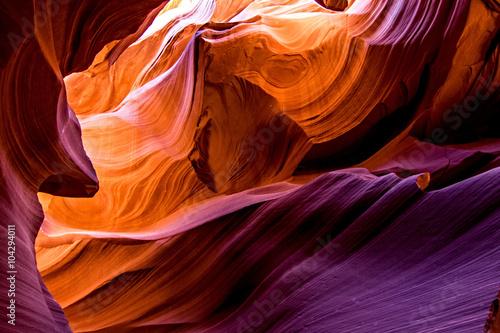 Garden Poster Brown Antelope canyon