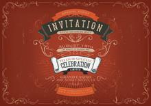 Vintage Invitation Poster Back...