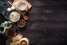 Ingredients For Baking On A Wo...