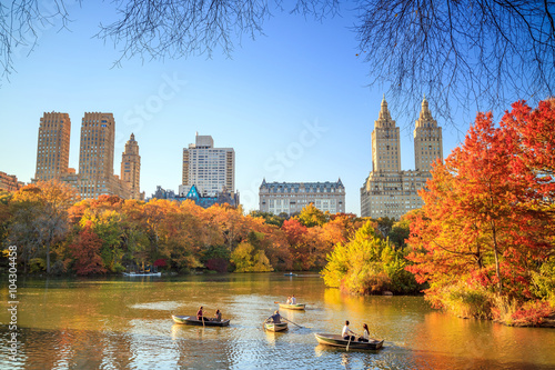 Canvas Prints American Famous Place Central Park in Autumn