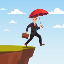 Businessman Leap Of Faith Conc...