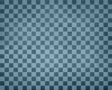 Vintage Checkered Background Pattern, Rows Of Dark And Light Blue Squares With Distressed Vintage Texture, Blue Checked Wallpaper Design, Shabby Chic Country Style