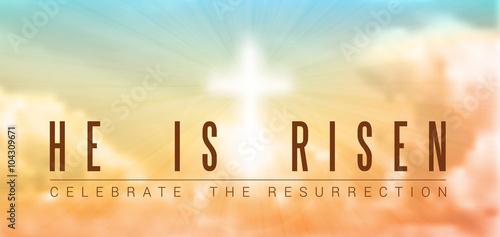 Obraz na płótnie easter christian motive, resurrection