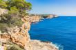 Beautiful coast view of an spanish island