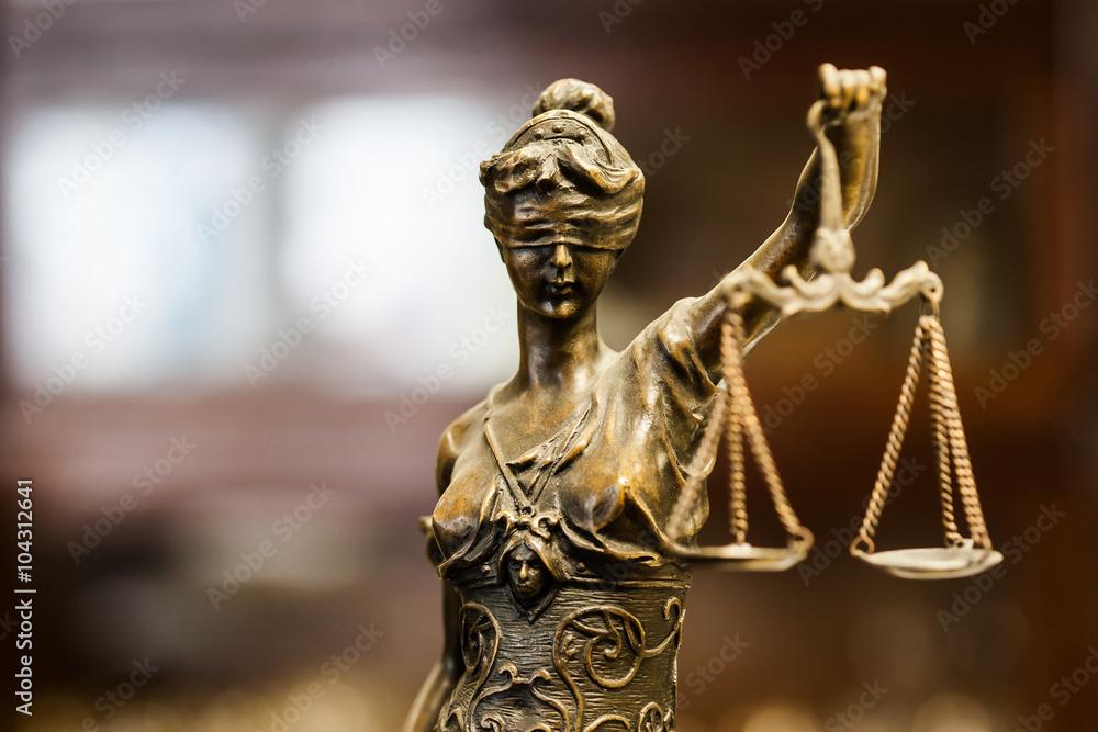 Fototapeta Statue of justice (focus on face)