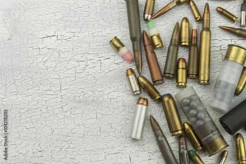 Fotografie, Tablou Different types of ammunition