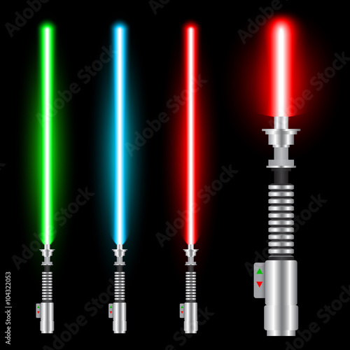 Photographie  Light swords of Jedi based on the movie Star War