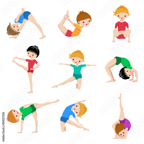 Gym Sketch Exercices Poster Kids Yoga Poses Gymnastics Healthy Lifestyle Yoga Children Workout Set Sport Asana Buy This Stock Vector And Explore Similar Vectors At Adobe Stock Adobe Stock