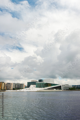 Fotografie, Tablou  Oslo, Norway - July 15, 2015: Day View of The Oslo Opera House