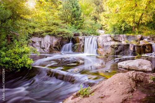 Wall Murals Waterfalls Waterfall in pond
