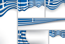 Abstract Greece Flag, Greek Vector Flag (Vector Art)