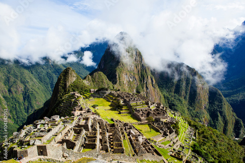 Misty clouds over Machu Picchu