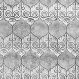 srebrny wzór Ściana rękodzieła w świątyni w stylu Lanna w Tajlandii - 104345672