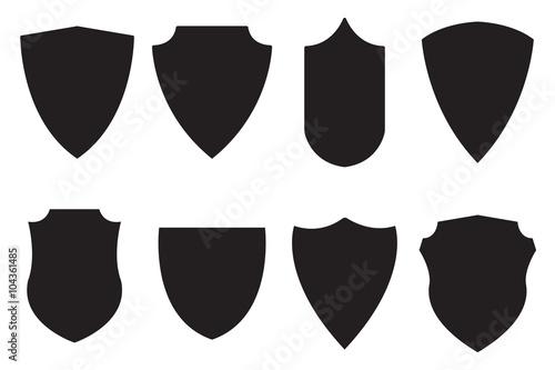 Fotografie, Obraz  Medieval shield. Set icon.