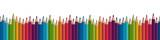 seamless colored pencils row