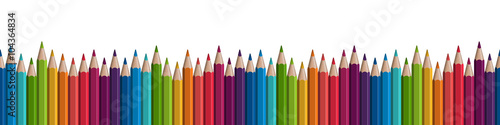 seamless colored pencils row Wallpaper Mural
