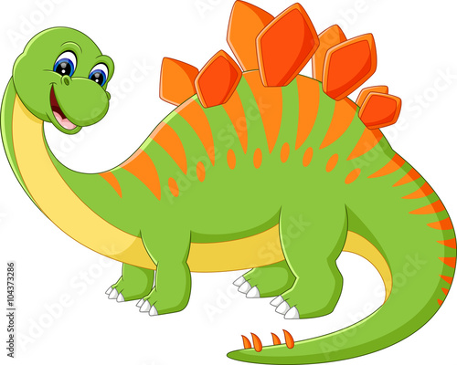 Deurstickers Dinosaurs illustration of Cute dinosaur cartoon