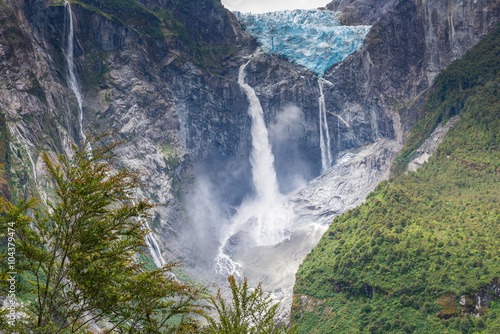 Poster Glaciers Hanging Glacier of Queulat National Park (Chile)