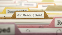 File Folder Labeled As Job Des...