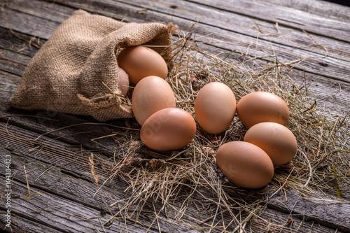 Fotografie, Obraz  Čerstvá hnědá vejce