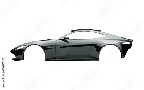 Fahrzeugdesign Karosserie eines Sportwagens aus Aluminiun
