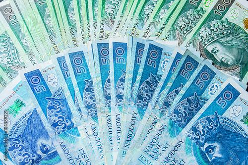 Fotografía Polish money bills