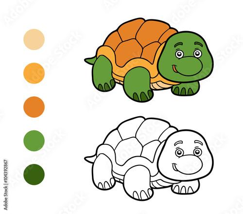 Coloring book, coloring page (turtle) – kaufen Sie diese ...