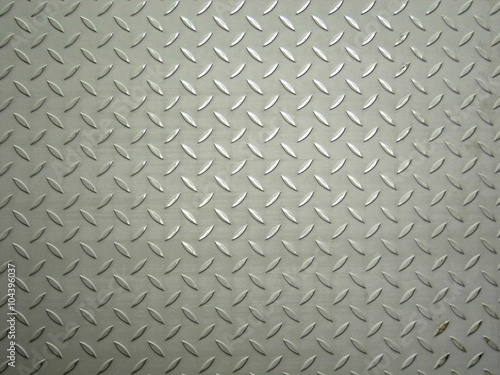 Poster Metal stainless steel plate with a pattern