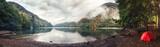 Fototapeta Na ścianę - Ritsa lake tent camping