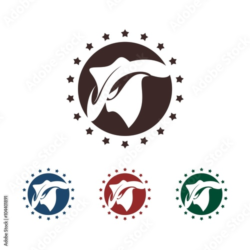 cool cowboy with circle star design vector logo template buy this