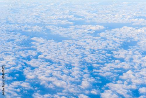 Foto op Plexiglas Arctica Many clouds on blue sky background.