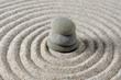 Center stacked Zen stones