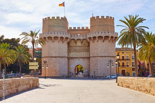Fotografie, Obraz  Valencia Torres de Serranos tower