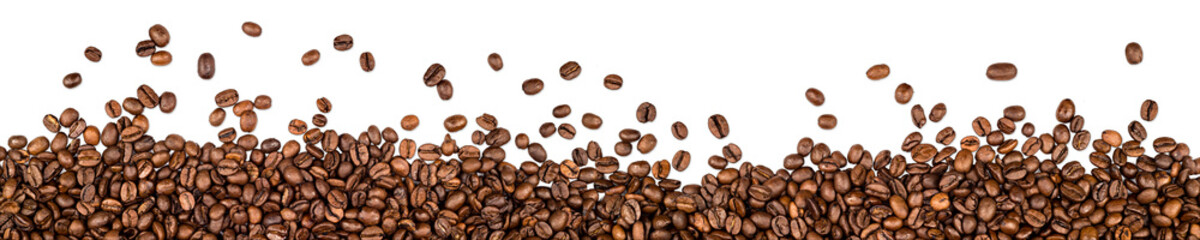 Fototapeta Kawa coffee beans isolated on white background