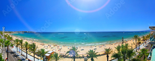 Staande foto Strand View of Platja Llarga beach in Salou Spain
