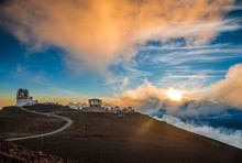 Haleakala Crater At Sunset, At...