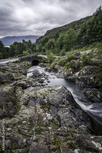 Fotografie, Obraz  Dramatic clouds over Catbells from Ashness Bridge in Keswick, Lake District, UK
