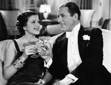 Portrait of couple having drinks  - 104428440