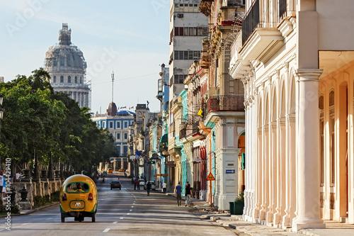 Poster de jardin Havana Cuba, La Habana, Paseo de Martí (Prado)