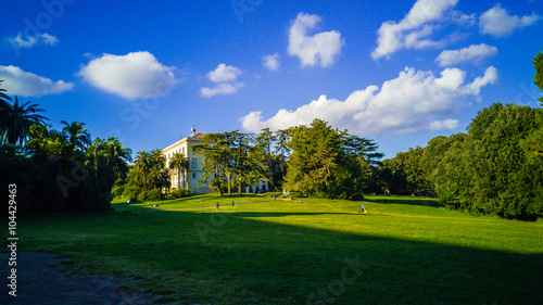A lawn in the Capodimonte park, Naples Italy Fototapet