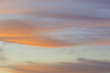 Background - Whispy Clouds at Sunset