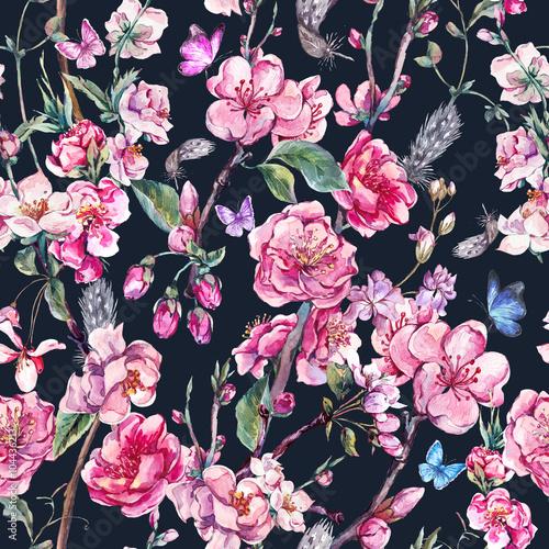bezszwowe-tlo-wiosna-z-rozowe-kwiaty