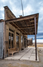 Bodie, California Ghost Town, Old Store Front And Boardwalk