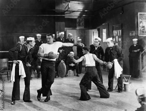Photo  Sailors having boxing match